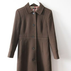 J. Crew Chocolate Brown Mid-weight Coat